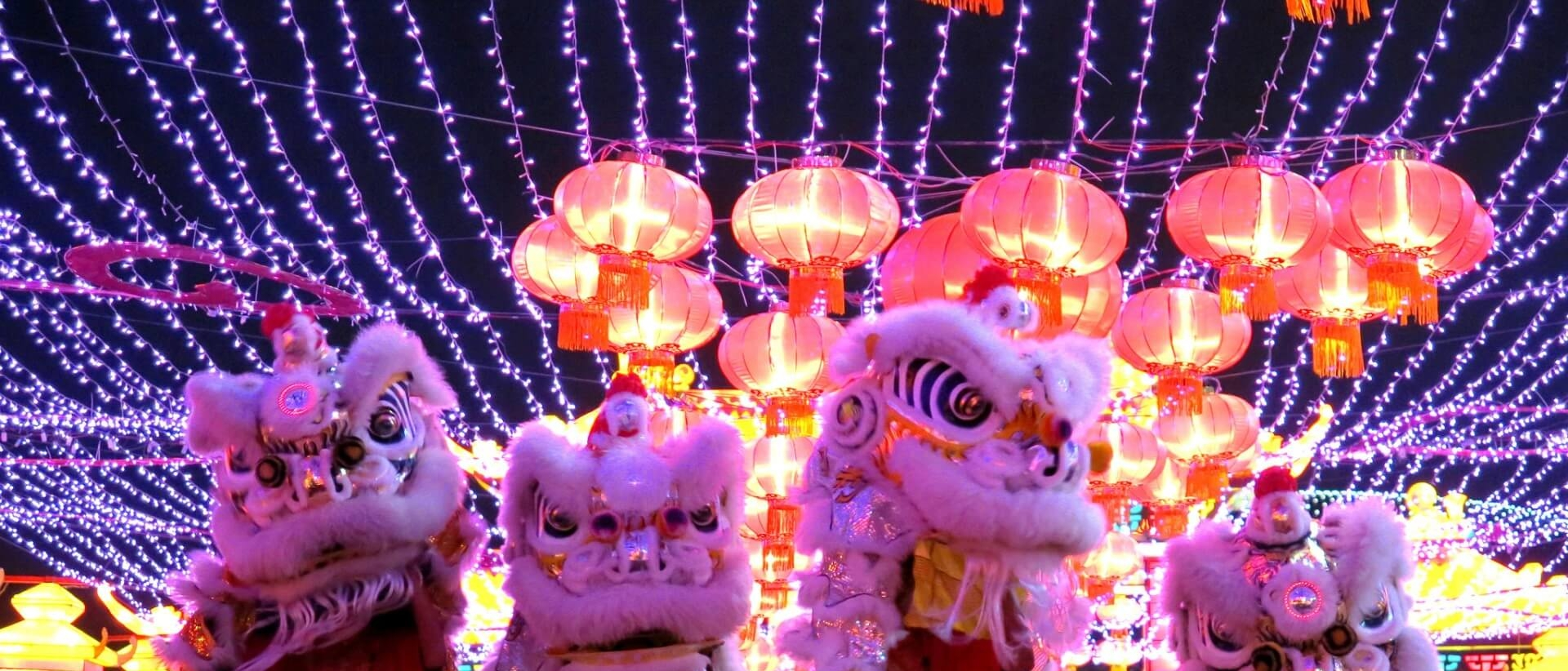 Lion dance in Singapore