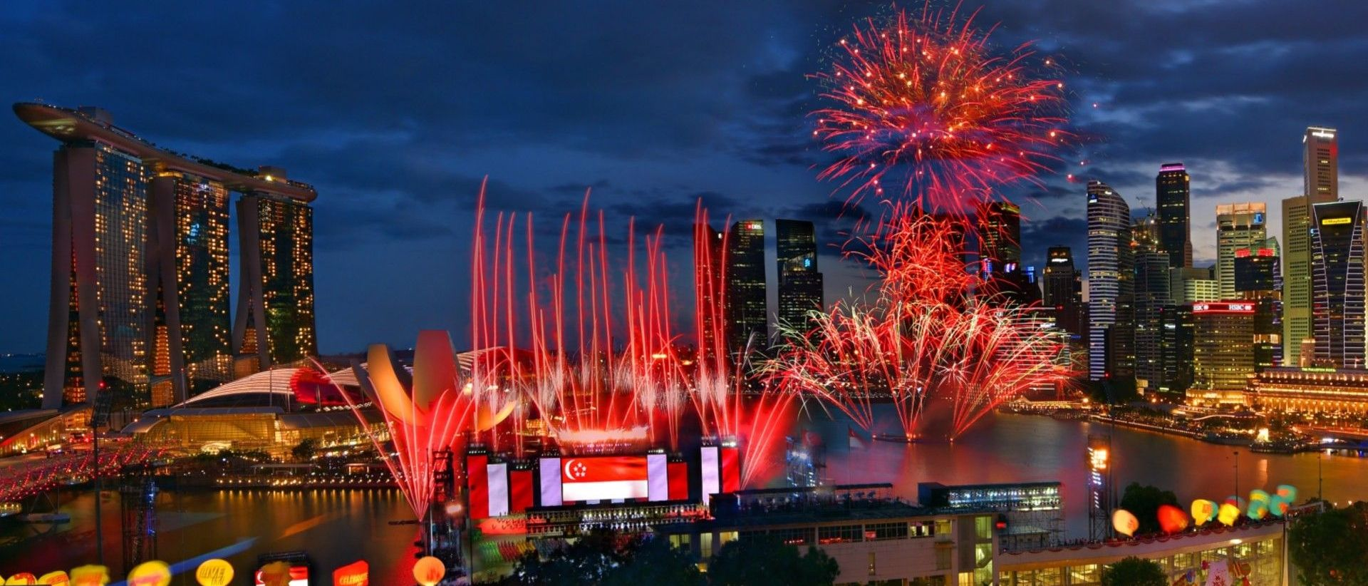 Singapore National Day Fireworks Places