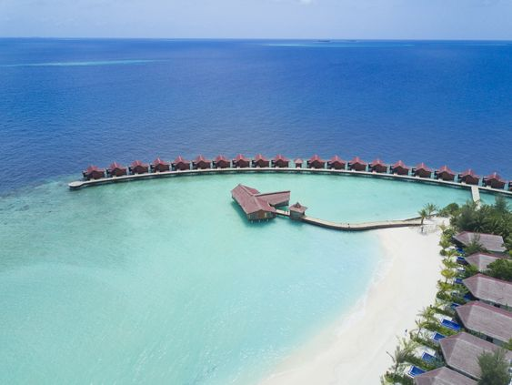 Aerial view of Grand Park Kodhipparu, Maldives